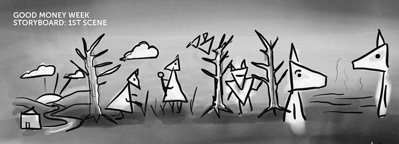 Good Money Week animation storyboard