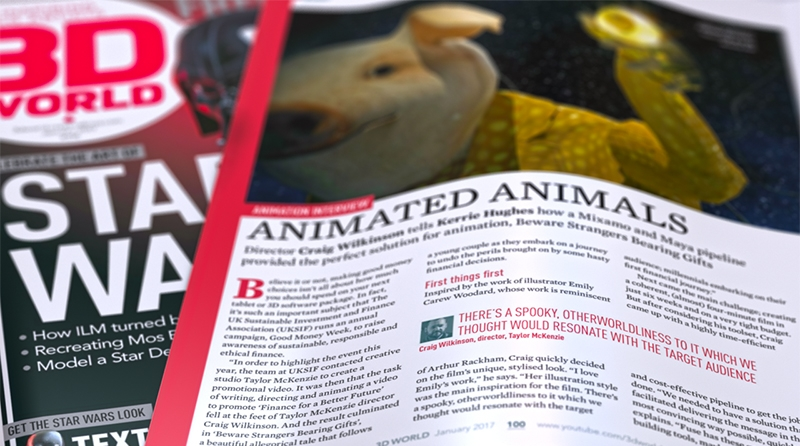 Animation features in 3D World magazine